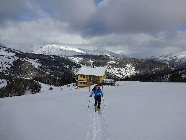 pla de la font esqui de travessa