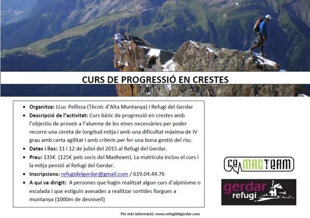 CURS DE PROGRESSIÓ EN CRESTES